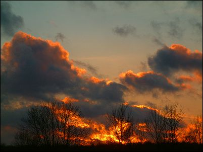 Fire in the Sky Sunset